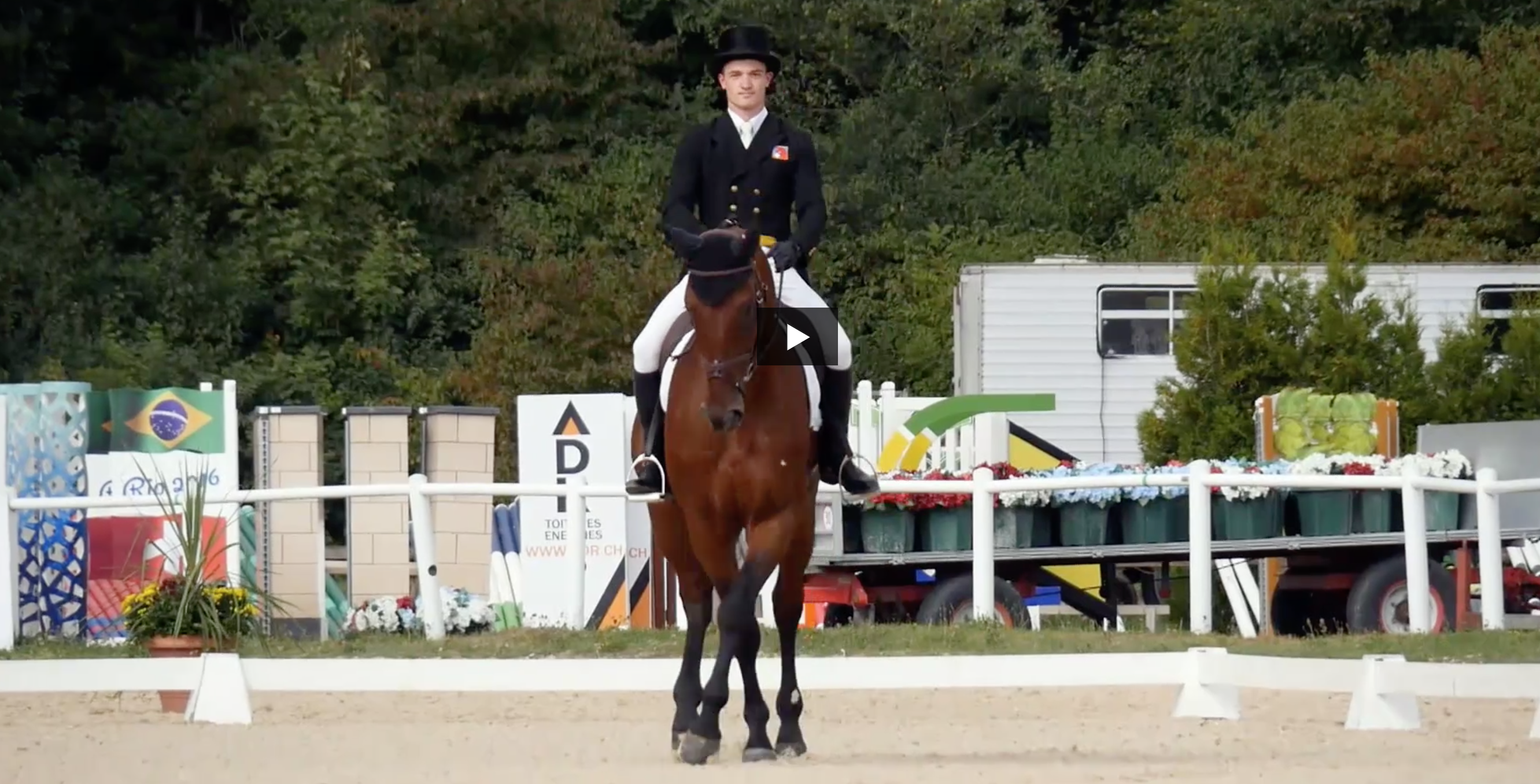Robin et Grandeur en route pour les Jeux Equestres Mondiaux Tryon 2018
